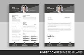 Resume Templates Design My Clean Resume Cv Set With Ms Word