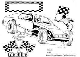 Small Picture nascar coloring pages modified race car Colouring Pages