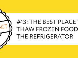 The Best Place To Thaw Frozen Food Kitchn