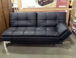 black leather futon costco