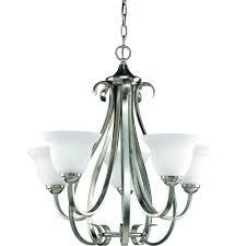 hilarious brushed nickel progress lighting chandeliers p4416 09 64 1000 in home depot chandeliers