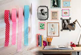 DIY Wall Art Ideas - Washi tape frames for Photos