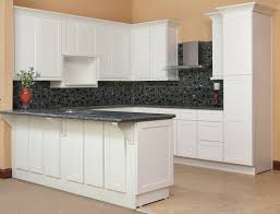 charming rta cabinets for modern kitchen decor and tile backsplash also granite countertops