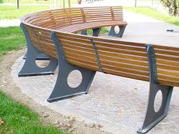 curved garden bench. Photo Gallery Of The Curved Bench Cushions Outdoor Garden