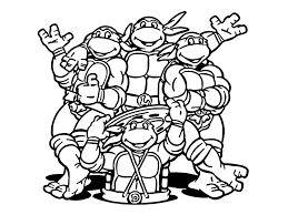 Small Picture Coloring Pages Nickelodeon Ninja Turtle Coloring Pages Printable