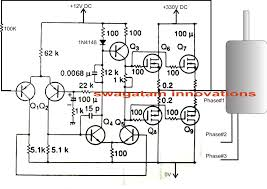 single phase ac to three phase ac converter circuit electronic devices required for the above single phase to three phase converter circuit