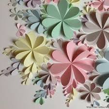 3d flower wall art template