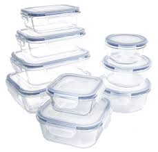 18 piece glass food container set with locking lids bpa free dishwasher oven microwave safe com