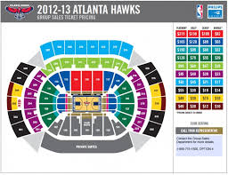 Hawks Seating Chart Philips Arena Seating Chart Hawks Climatejourney Org