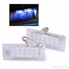 Bmw X5 License Plate Light Replacement License Plate Light For Bmw X5 E53 X3 E83 2003 2010 18 Led Bulbs Car Number Plate Lamp Car Styling Light Source Blue Car Bulbs Blue Car Light Bulbs