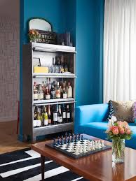 diy shelves fill empty wall colorful wainscoting bp hhbn file cabinet turned bar sxjpgrendhgtvcom