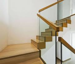 wood and glass staircase railing