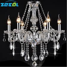 6 Light Candle Chandelier Us 266 39 Zesol 6 Lights Vintage Rustic Crystal Candle Chandelier Lighting Pendant Lamp Hanging Light For Hotel Lighting In Pendant Lights From