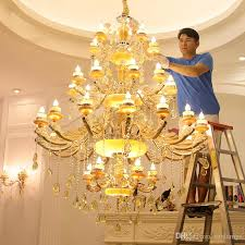 long stair large chandelier led crystal light modern fashion living room dining hall complex staircase lighting gold chandeliers chandelier chandeliers from