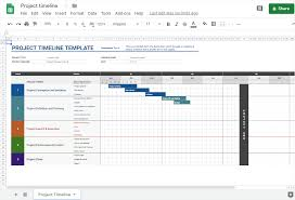 how to make a timeline in google sheets