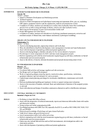 Water Resource Engineer Sample Resume Water Resource Engineer Resume Samples Velvet Jobs 1