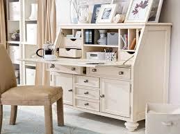 white secretary desk hutch