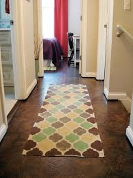 image of scenic pattern rug in rectangular shape on solid surface flooring from dark brown marble carpet pattern background home