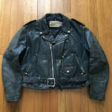size 46 jacket in us vintage schott perfecto black leather motorcycle jacket usa size 46