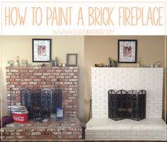 painted white brick fireplaceHow to Whitewash Brick  Farm Fresh Vintage Finds  Homestead