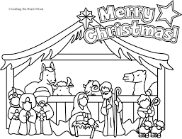 Small Picture Nativity Coloring Page Coloring Page Crafting The Word Of God