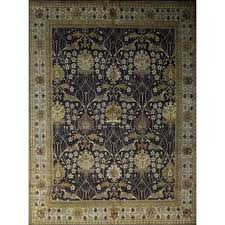 rug in the style of william morris fabrics patterns