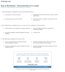 quiz worksheet characteristics of a leader com print what is a leader definition qualities characteristics worksheet