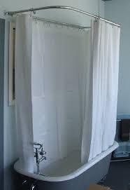 clawfoot tub shower curtain rod - How to Make Amazing Bathroom ...