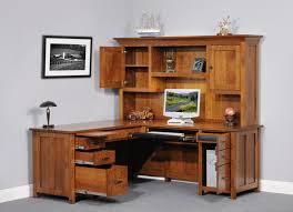wood corner desk with hutch