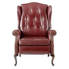 queen anne reclining chairs leather queen recliner