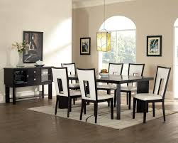Dining Room   Modern Dining Sets In Black And White - Dining room sets with colored chairs