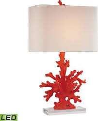 tropical table lamps. 1-Light LED 3-Way Table Lamp Red Coral Tropical Lamps U