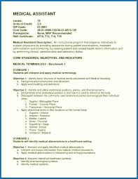 Medical Assistant Example Resume Objective For Resume Medical Assistant Example Resume Medical 22