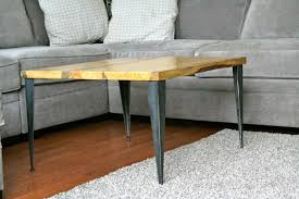 Diy Coffee Table With Tapered Angle Iron Modern Wood Coffee Table Reclaimed  Metal Mid Century Round
