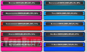 This Is The Cmyk Color Chart Cyan Magenta Yellow And Key