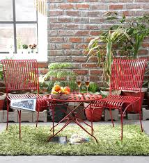garden table and chair sets india. lisheen outdoor garden set in red color by bohemiana table and chair sets india g