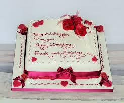 Ruby Wedding Anniversary Cake Ayres