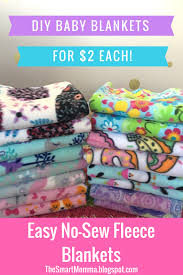 easy no sew fleece baby blankets for 2 each
