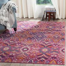 safavieh madison fuchsia multi 9 ft x 12 ft area rug
