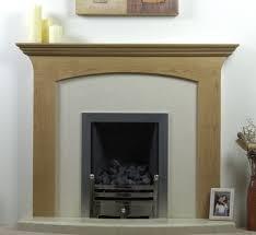 stone wrap around gray iron fireplace