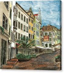 italian cafe canvas print italian village 1 by debbie dewitt