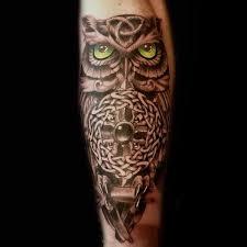 30 Keltských Sova Tetování Vzory Pro Muže Knot Inkoustové Nápady