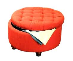 red leather storage ottoman bench square small furniture marvelous round charmin