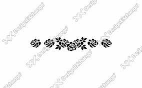 バラのライン クリップアート年賀状戌年の年賀状イラストデザイン