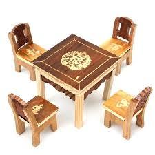 set vintage wooden table chair set for dolls house furniture miniature room set kids kids wooden table chairs childrens wooden table and chairs australia