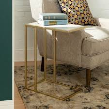 Contemporary industrial furniture Black Walker Edison Furniture Company 20 In White Faux Marble Gold Urban Industrial Modern Contemporary Transitional Asymmetrical Side Accent Tablehdf20scstwm Home Depot Walker Edison Furniture Company 20 In White Faux Marble Gold Urban