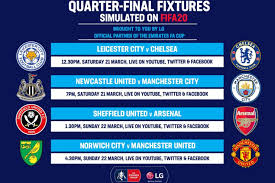 The football association challenge cup, more commonly known as the fa cup, is an annual knockout football competition in men's domestic english football. Inkl Fa Cup Quarter Finals On Fifa 20 The Show Goes On For Arsenal Chelsea Manchester United And Man City Evening Standard