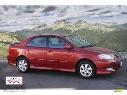 2004 Impulse Red Toyota Corolla S #58089895 | GTCarLot.com - Car ...