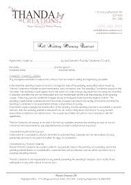 Wedding Planning Contract Templates Contract Templates Lawyer For