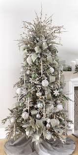 Clever Design Ideas White And Silver Christmas Tree Decorations With